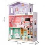 Ecotoys Dřevěný domeček pro panenky s výtahem Calibu