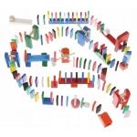 Kruzzel 9397 Dřevěné domino barevné 1080 ks