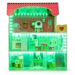 Ecotoys dřevěný domeček pro panenky Tennessee s Led osvětlením