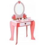 Derrson dřevěný toaletní stolek s příslušenstvím