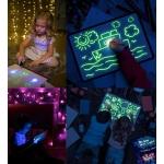 iMex Toys Svítící kreslící tabulka A4 s příslušenstvím