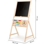 Derrson Multifunkční oboustranná dřevěná tabule 115x56cm