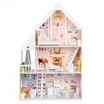 Derrson XXXL dřevěný domeček pro panenky Victoria 130cm