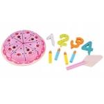 Derrson dřevěný narozeninový dort růžový