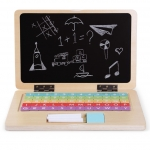Derrson dřevěný naučný notebook 70 dílů