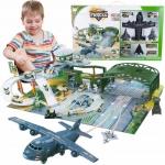 ISO 11399 Dětské vojenské letiště s letadly a příslušenstvím XXL