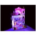 Dřevěný domeček pro panenky XXL + LED světla