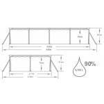 Bestway Steel Pro Frame 4 x 2,11 x 0,81 m 56424