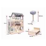 iMex Toys Dřevěný domeček pro panenky Iris s osvětlením
