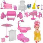 iMex Toys Plastový domeček pro panenky s panenkou a příslušenstvím 11410