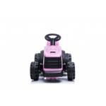 Dětský elektrický traktor s přívěsem růžová