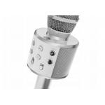 Karaoke bluetooth mikrofon WS 858 stříbrný