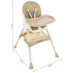 Kruzzel 12060 Jídelní židlička 3 v 1 hnědá
