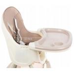 Kruzzel 12058 Jídelní židlička 3 v 1 růžová