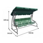 iMex Toys Zahradní houpačka zelená Grandgarden Green 2v1