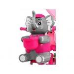 Tříkolka Slon se zvukovými efekty růžová