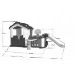 Zahradní domeček 5v1 červený ZOG.CHD-808