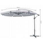 Malatec 12267 Slunečník s LED osvětlením 350 cm šedý