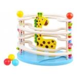 iMex Toys Dřevěná kuličková dráha žirafa