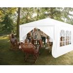 Malatec 12872 Zahradní párty stan 3 x 9 m + 8 bočních stěn bílý