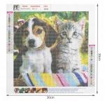 ISO Diamantové malování - pes a kočka