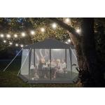 Malatec 12889 Zahradní párty stan šestiúhelník s moskytiérou + 6 stěn šedý