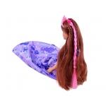 iMex Toys panenka princezna s kadeřnickou sadou fialová