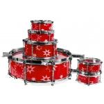 JAZZ DRUM. Dětská bicí souprava bubny pro kluky Red