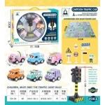 iMex Toys sada aut s hrací podložkou pro děti