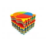Ecotoys pěnová puzzle hrací deka Happy Color