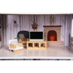 Ecotoys rezidence dřevěný domeček Emma s příslušenstvím