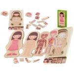 KIK KX5957 puzzle Montessori části těla dívka