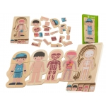 KIK KX5957_1 puzzle Montessori části těla chlapec