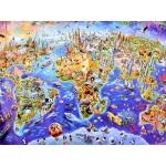 iMex Toys puzzle mapa kontinentů 1000 dílků ZA3962