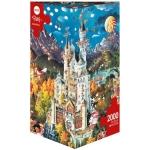Heye Puzzle Zámek v Bavorsku Triangular  2000 dílků